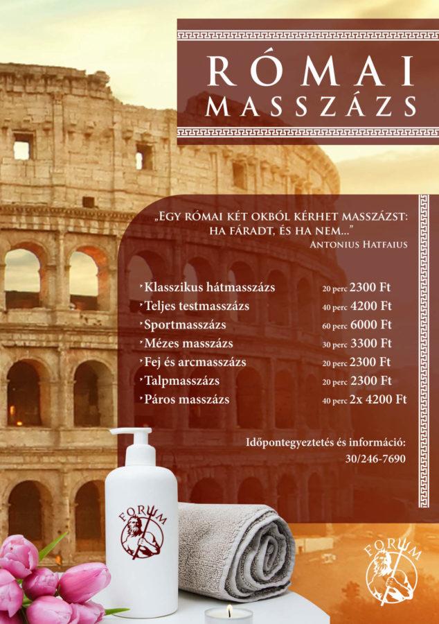 forum Szombathely Római masszázs